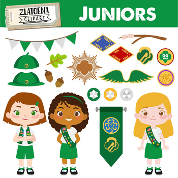 Junior Scout Girl Clip art Explorer Clip art Girl Scouts Troop Camping  Juniors.