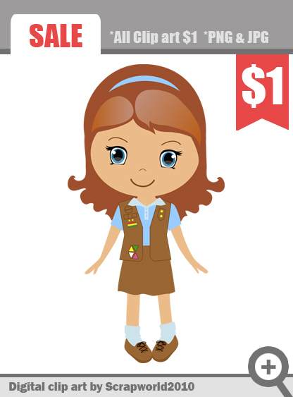 30+ Girl Scout Brownie Clip Art.