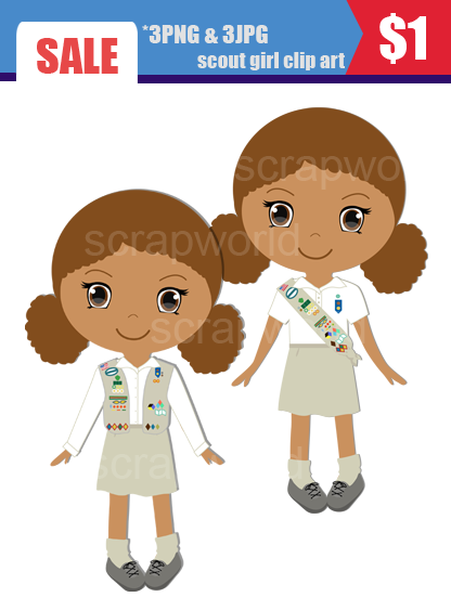 Girl Scout Cadette Clipart.