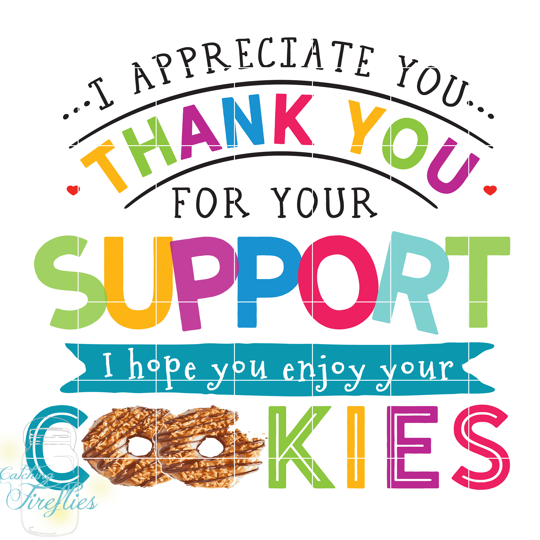 Girl Scout Cookie Thank You Clipart.