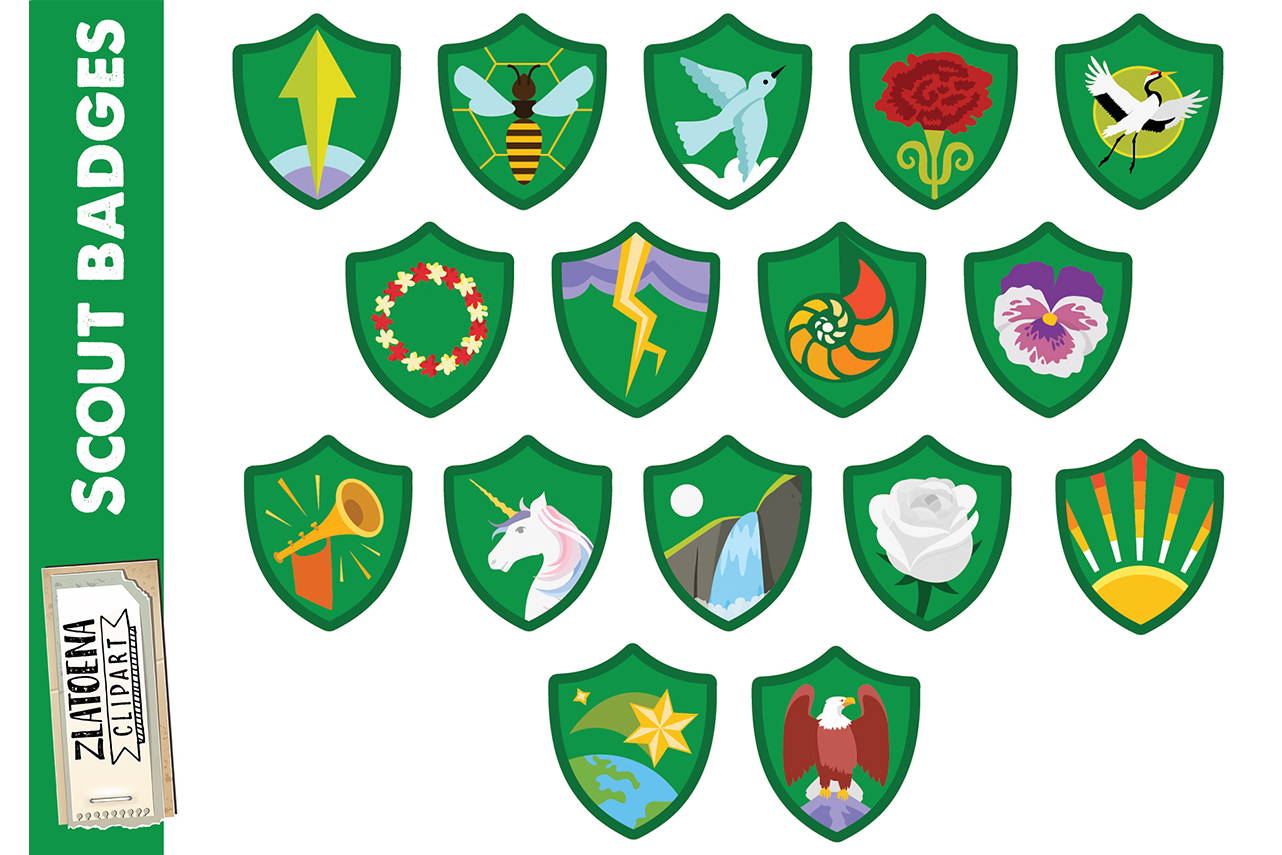 Brownie Girl Scout Clipart Explorer Badges clipart.