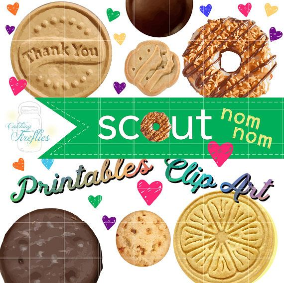 Girl Scout Cookie CLIP ART ABC, 2019 Cookie + Donate to the.