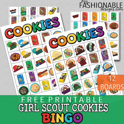 My Fashionable Designs: Free Printable Girl Scout Cookies.