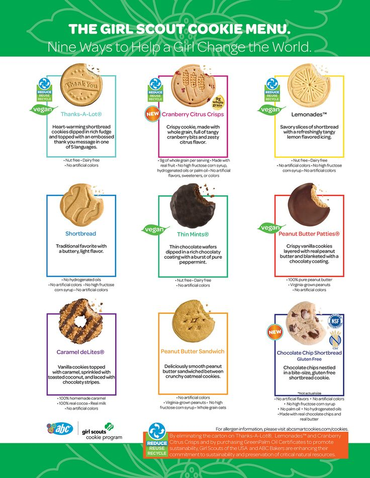 Girl Scout Abc Bakers Cookies Clipart.