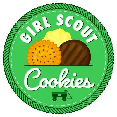 GIRL SCOUT COOKIES Stickers Scratch & Sniff Out Of Print.
