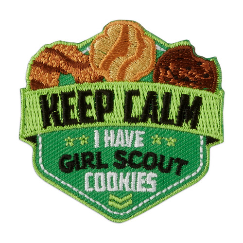 Keep Calm I Have Girl Scout Cookies Iron.