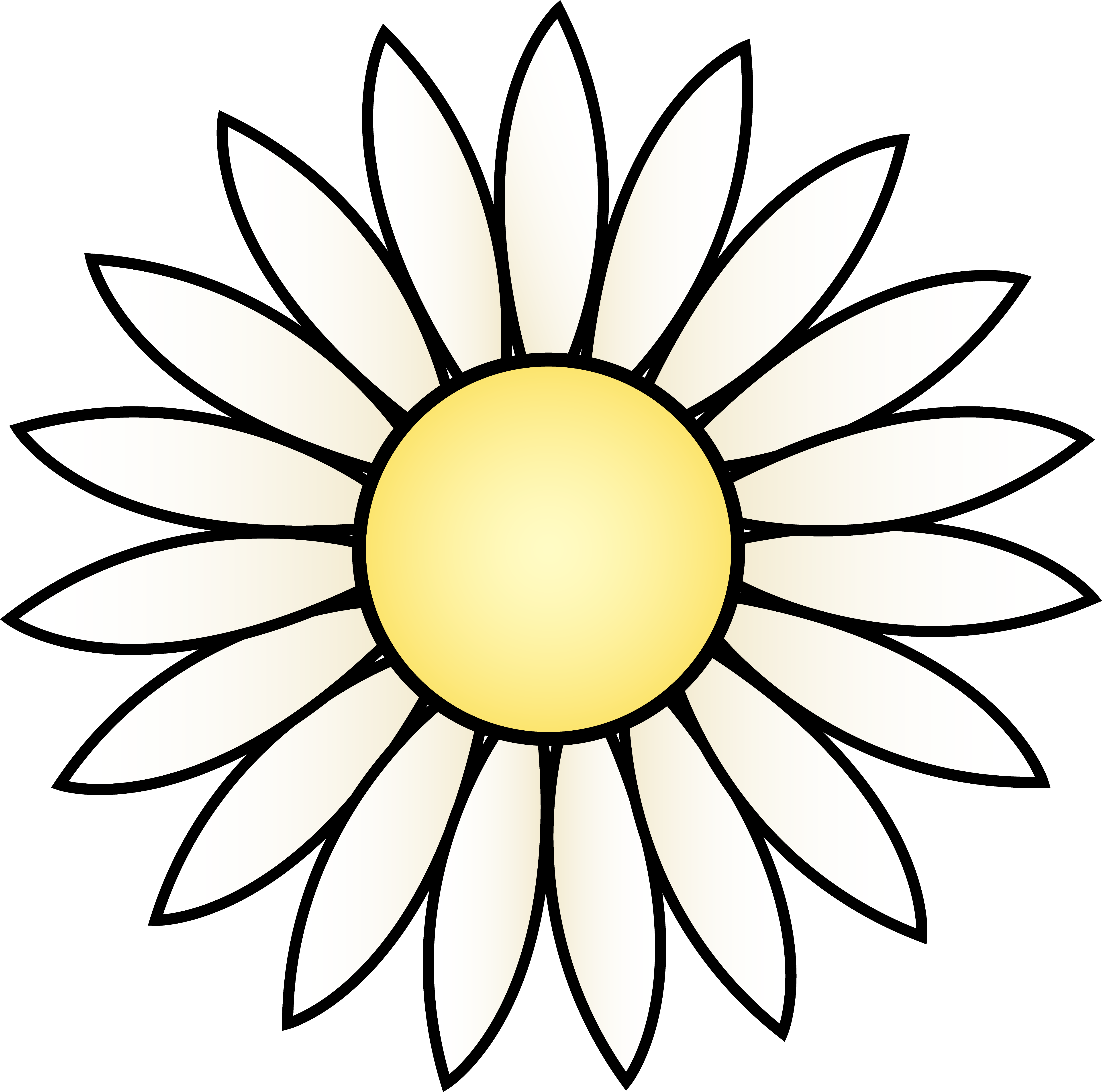 Free Daisy Flower Template, Download Free Clip Art, Free.