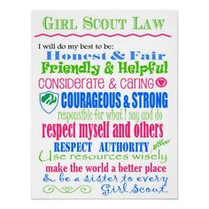 Girl Scout Law Clipart.