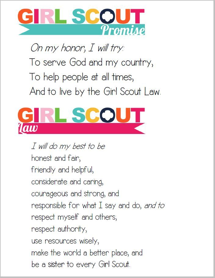 girl scout promise and law coloring page girl scout law clipart.