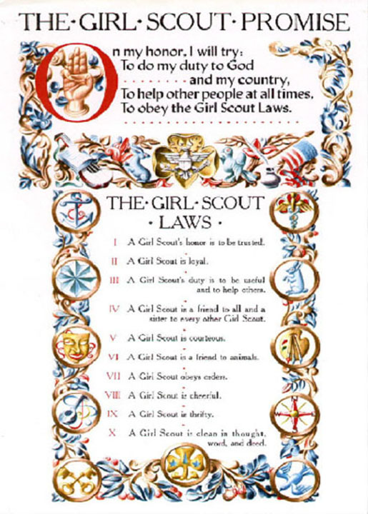 girl scout law clipart - Clipground