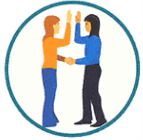 girl scout sign hand clipart #2