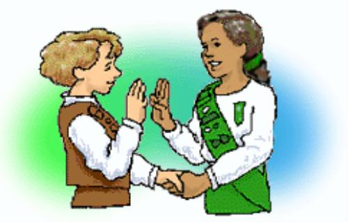 Girl Scout Sign Hand Clipart.