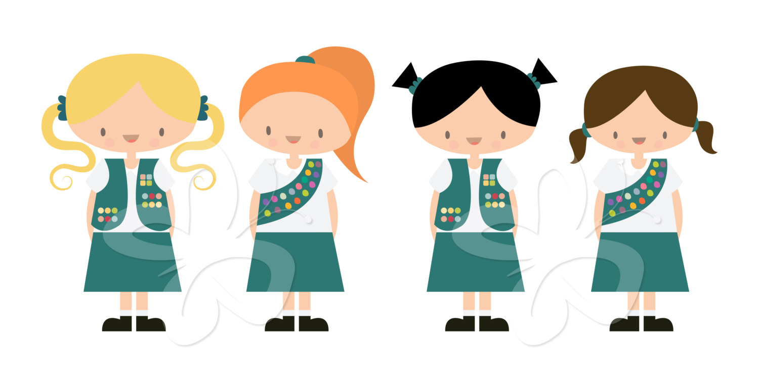 Junior Girl Scout Clipart.
