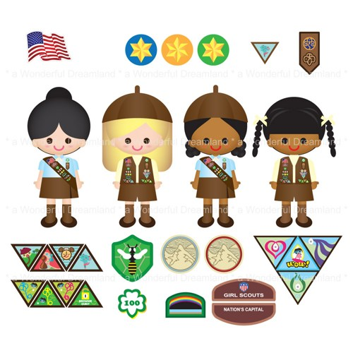 Brownie clipart girl scouts.