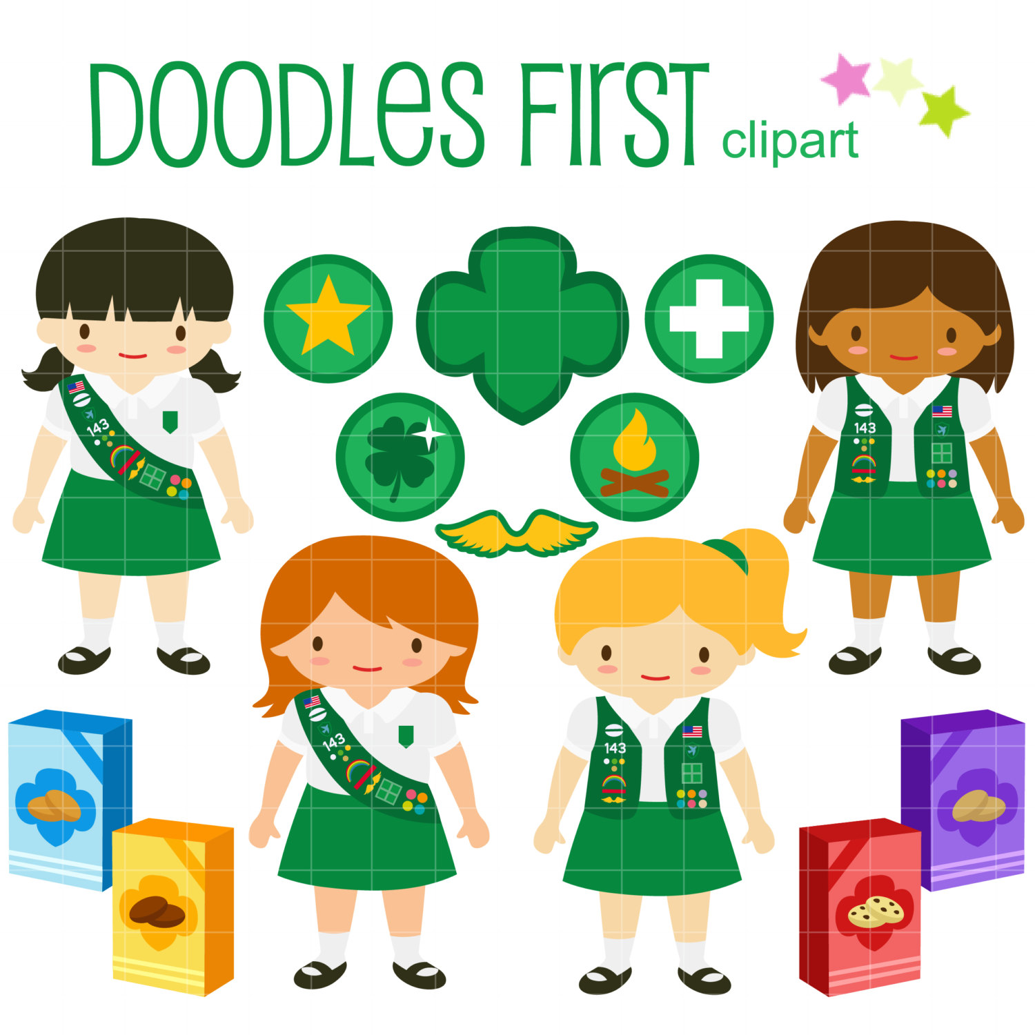 girl scout sign hand clipart #11