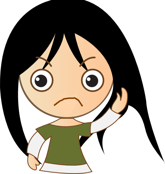 Showing post & media for Frowning girl cartoon.