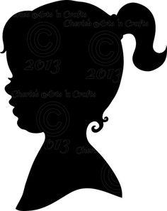 Little Girl Silhouette Clip Art Free.