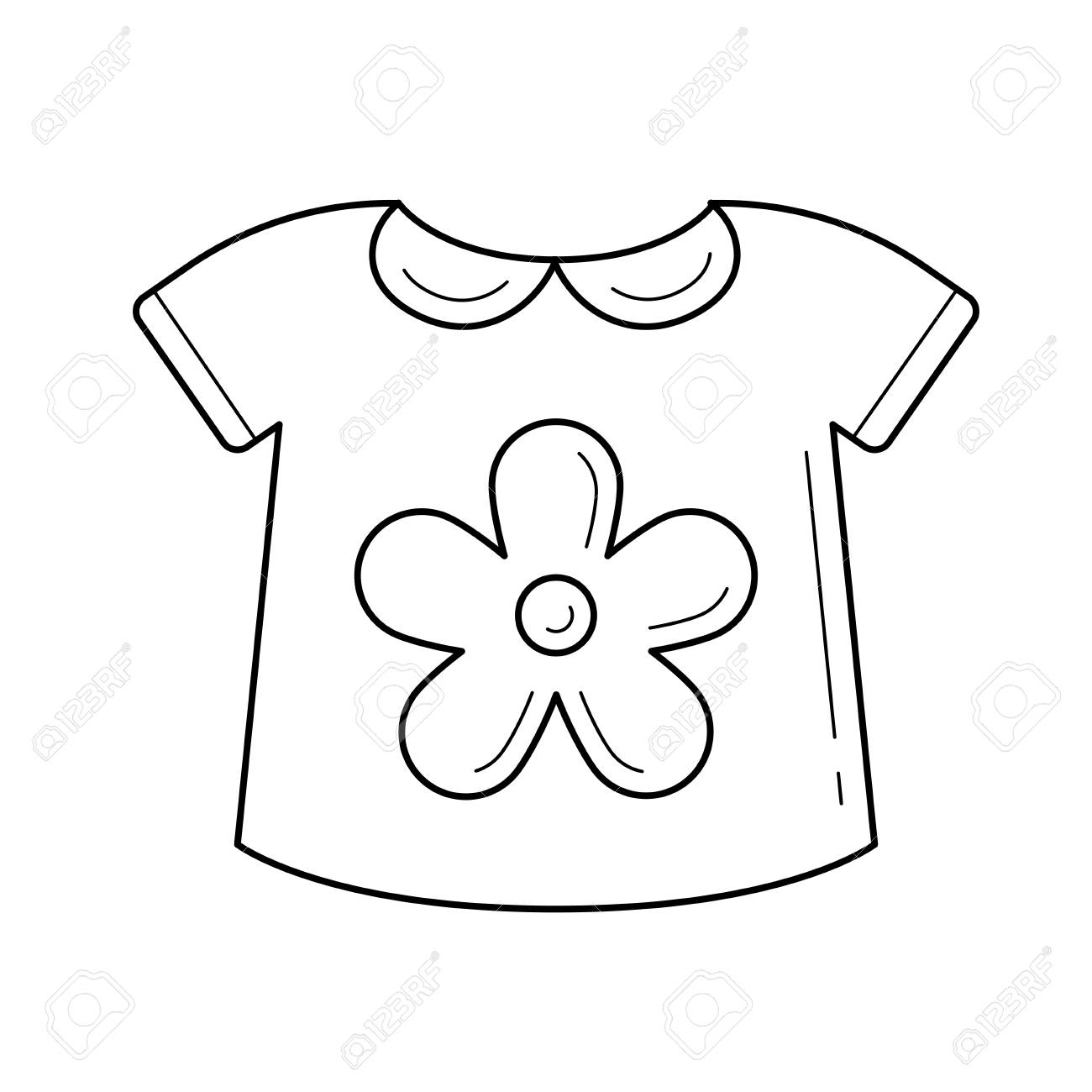 Baby shirt line icon isolated on white background. Vector line...