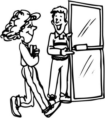 Showing post & media for Cartoon person shutting door.