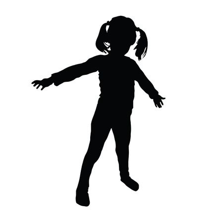 16,170 Little Girl Silhouette Stock Vector Illustration And Royalty.
