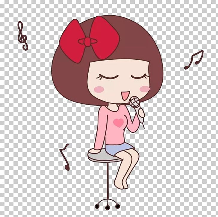 Singing Cartoon Girl PNG, Clipart, Art, Baby Girl, Child, Children.
