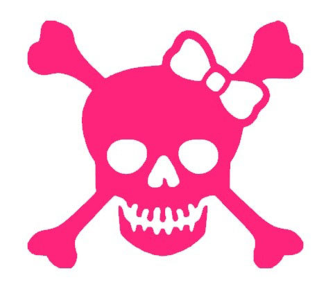 Download High Quality skull and crossbones clipart girl.