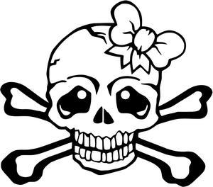 Skull And Crossbones For Girls.
