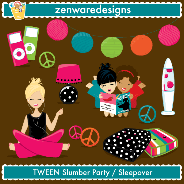 Slumber Party Clipart Png.