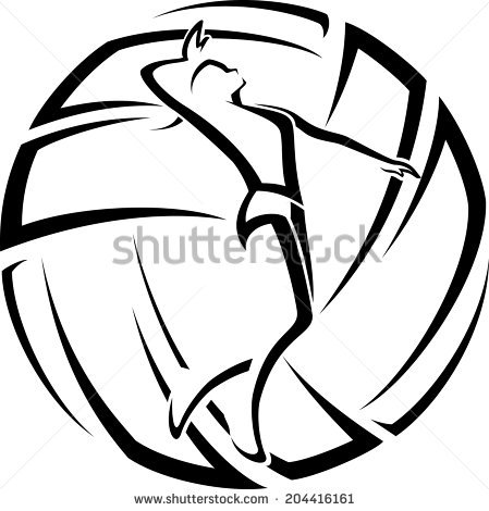 Volleyball Spike Stock Images, Royalty.