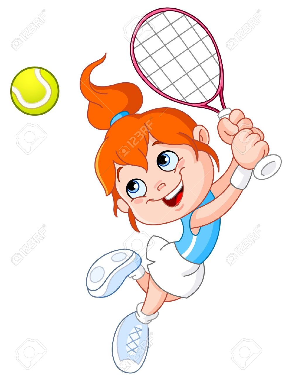 Young Girl Playing Tennis Royalty Free Cliparts, Vectors, And.