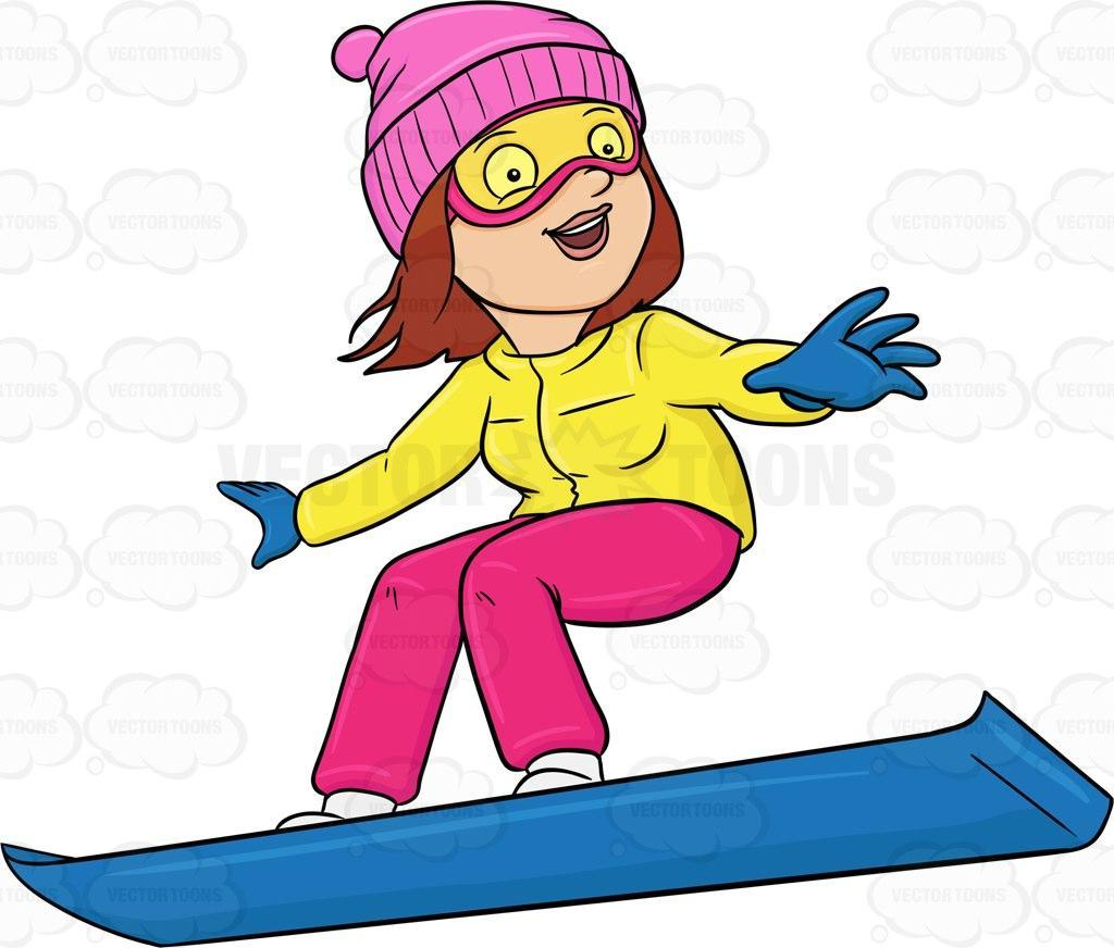 Best Free Snowboarding Girl Clip Art Images ~ Vector Images Design.