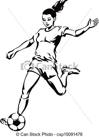 Girl Soccer Player Clipart.