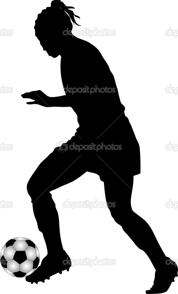 Girl Soccer Player Silhouette.