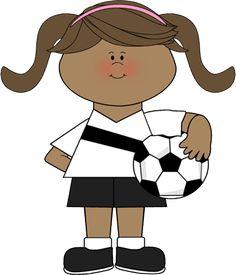 cute clip art ~ Girl Soccer Players.