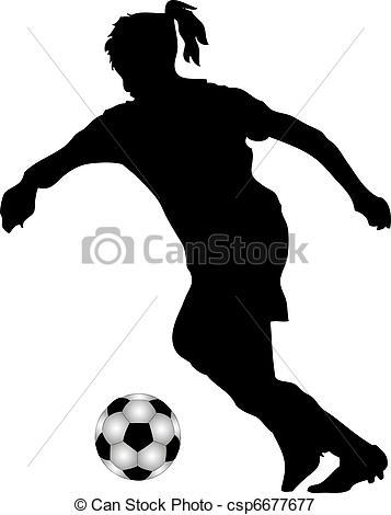 Female Soccer Clipart.