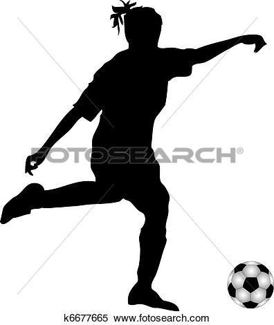Stock Illustration of Female soccer player k6677677.