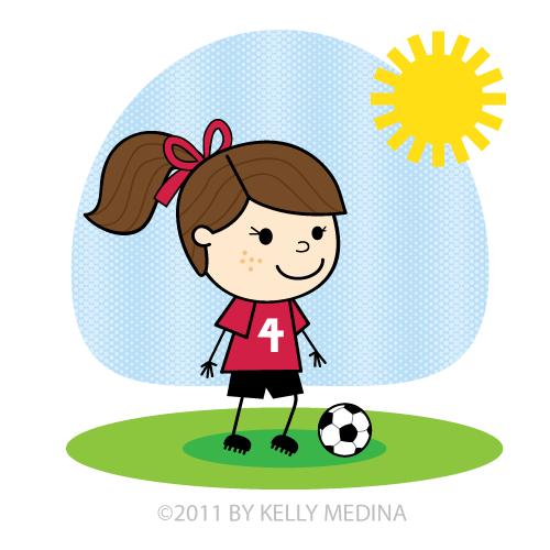 Soccer Girl Clipart.