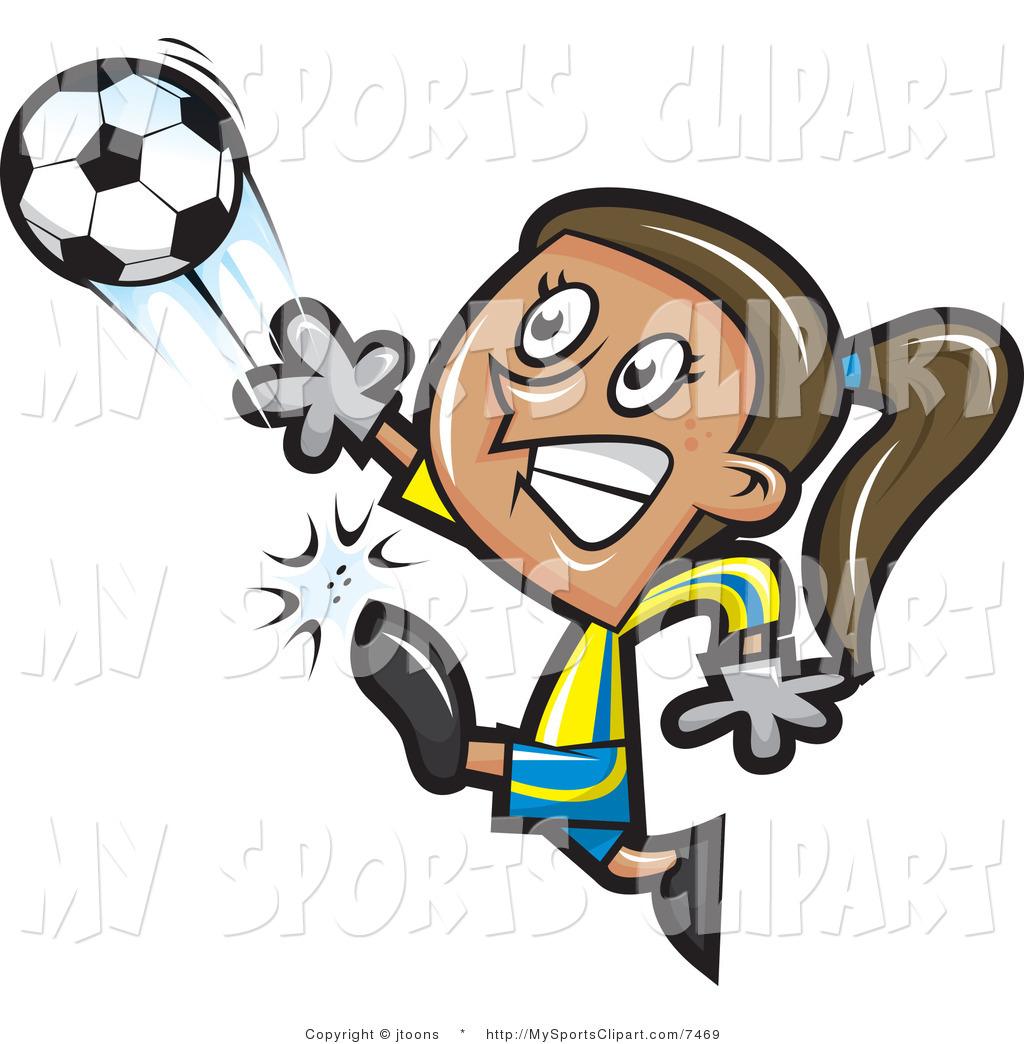 Female Soccer Goalie Clipart.
