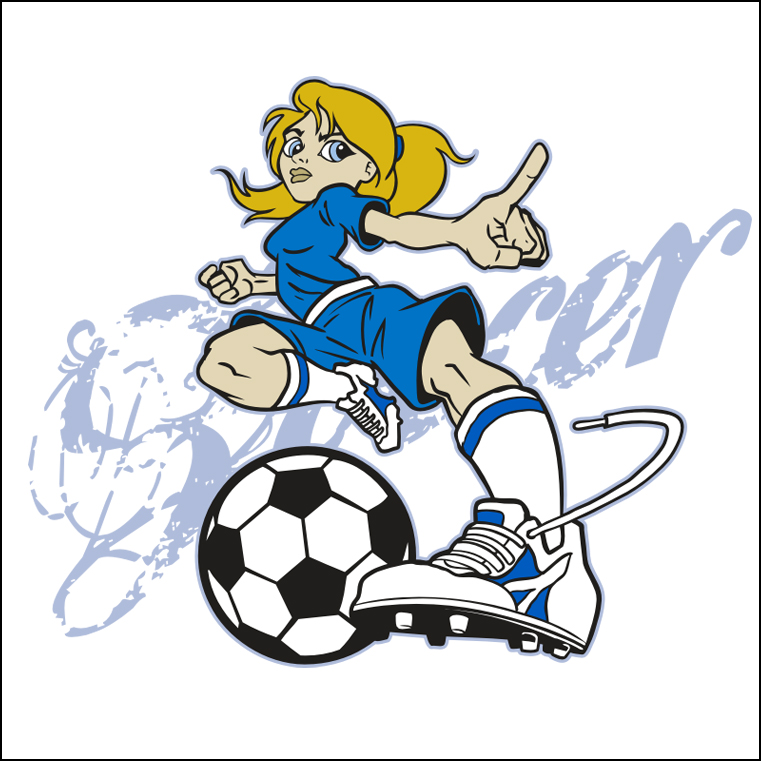 Free Girl Kicking Soccer Ball, Download Free Clip Art, Free.