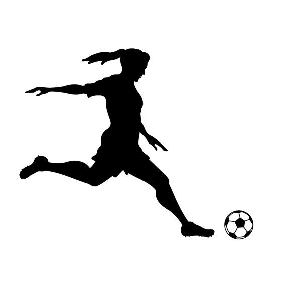 Girl soccer player clipart » Clipart Station.