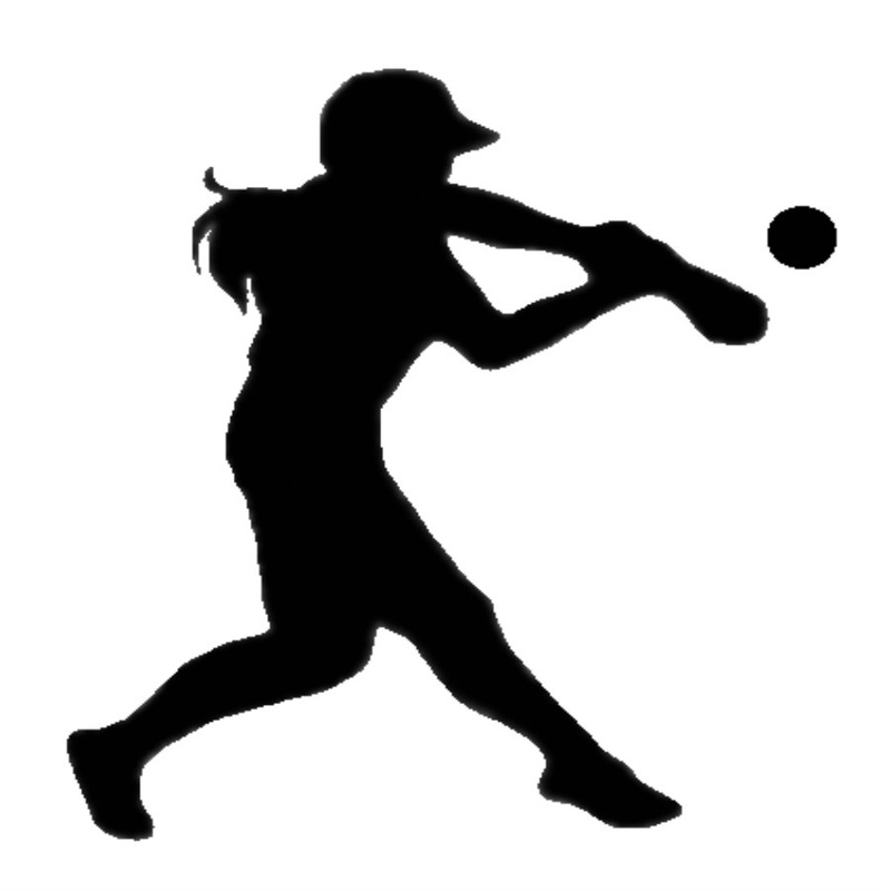 girl softball clipart