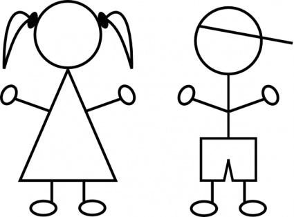 93+ Girl Stick Figure Clip Art.