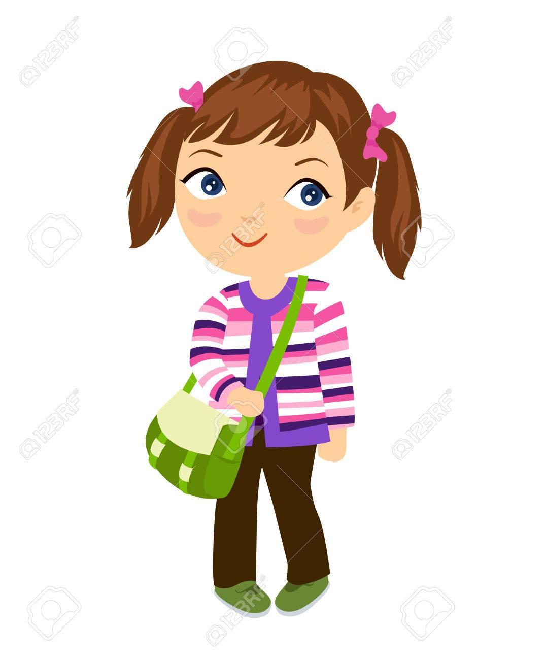 Cute student girl.
