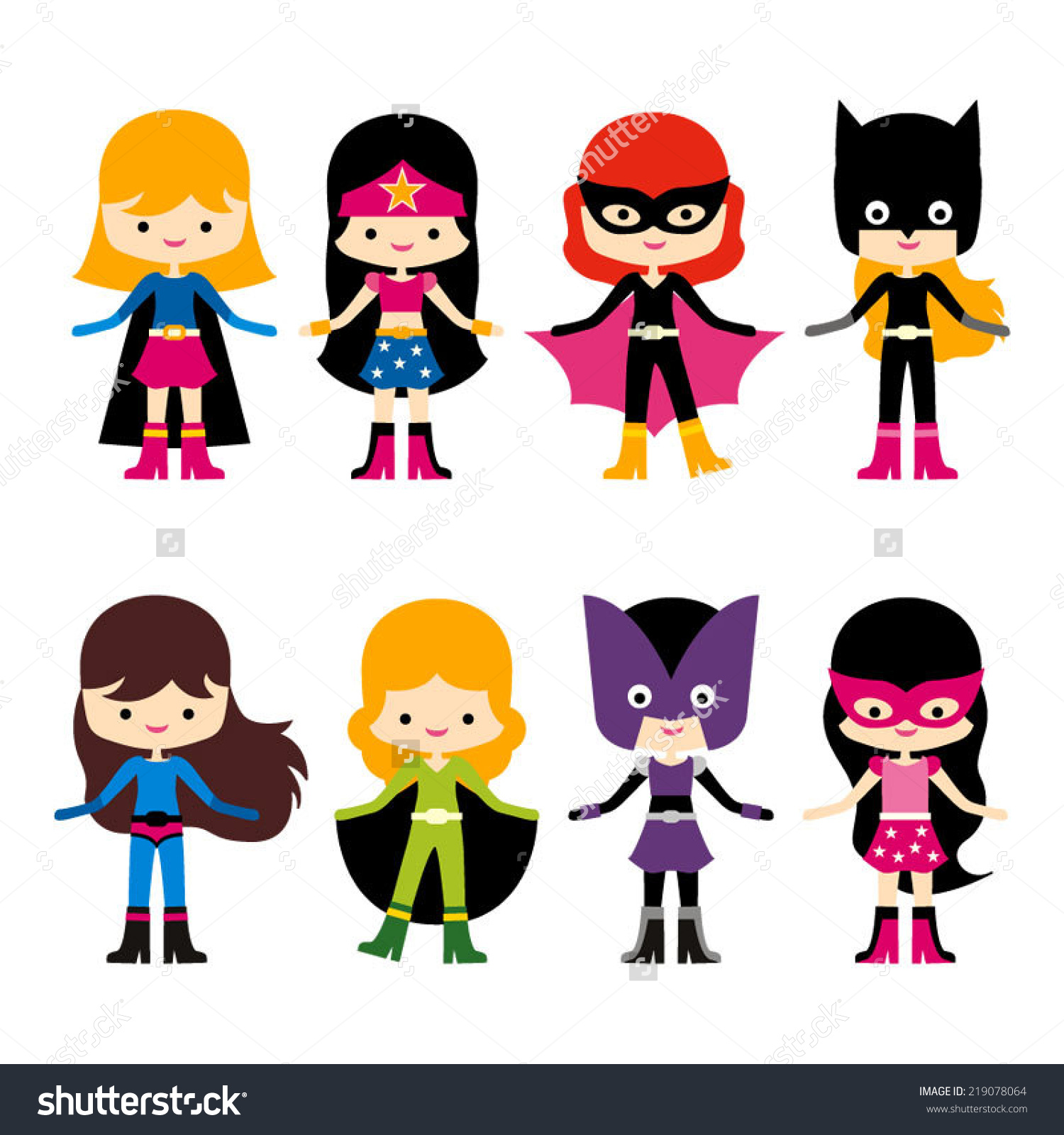 Cute Super Hero Clipart.