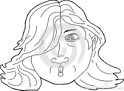 Outline Surprised Woman Stock Illustrations.