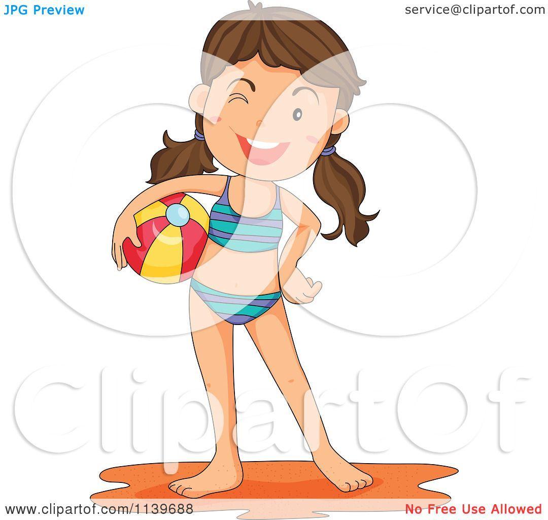 Girl swimsuit clipart 4 » Clipart Portal.
