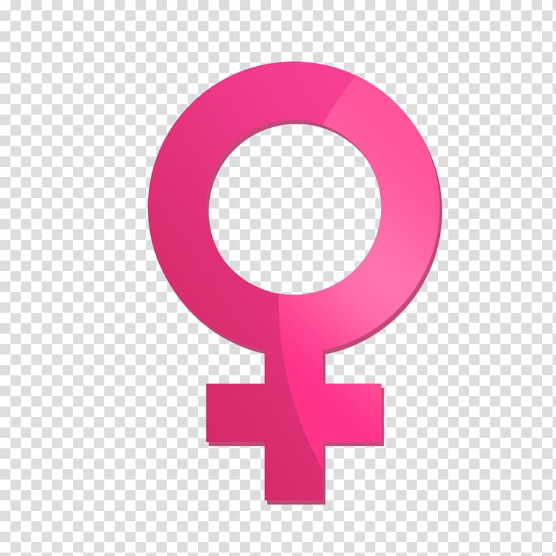 Female pink symbol , Gender symbol Female, Gender parity.