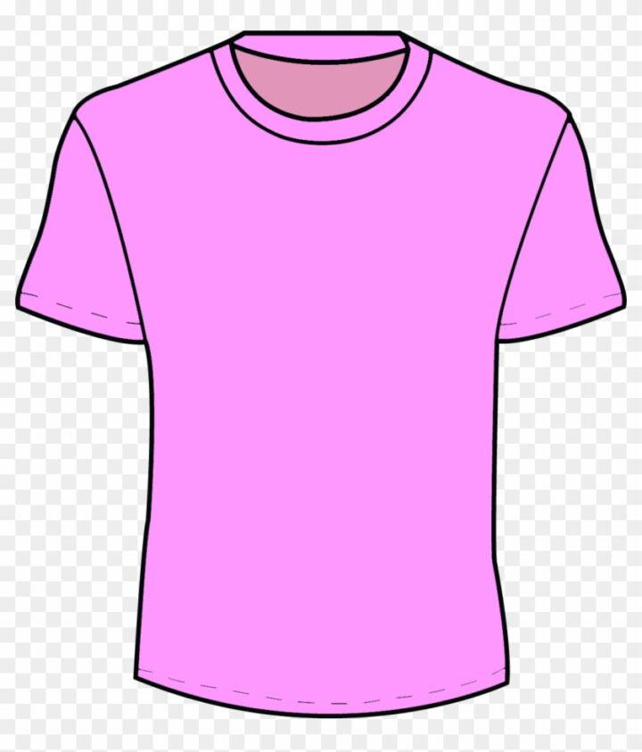 Girl T Shirt Clipart Clip Art Library Pink T Shirt Template.