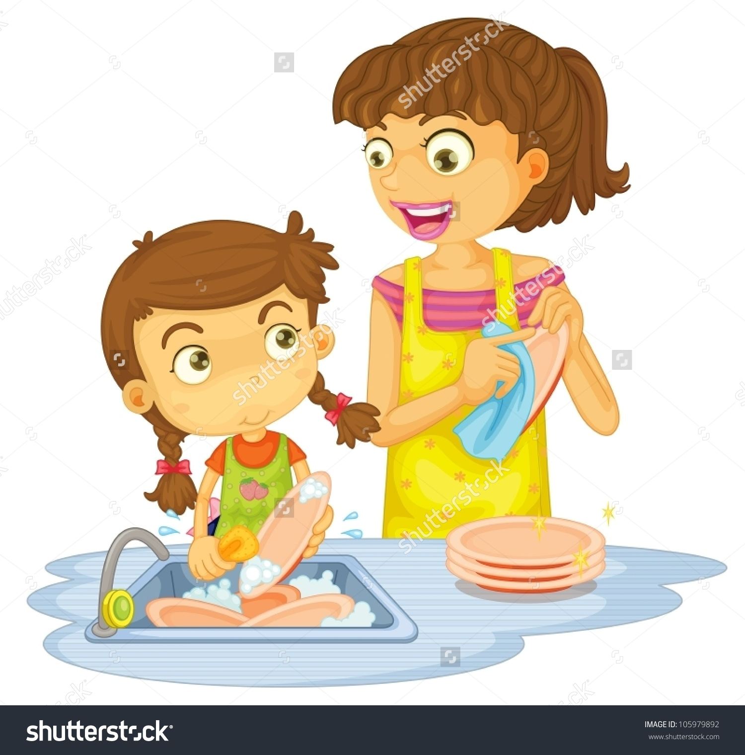 Girl Table Dishes Clipart Clipground