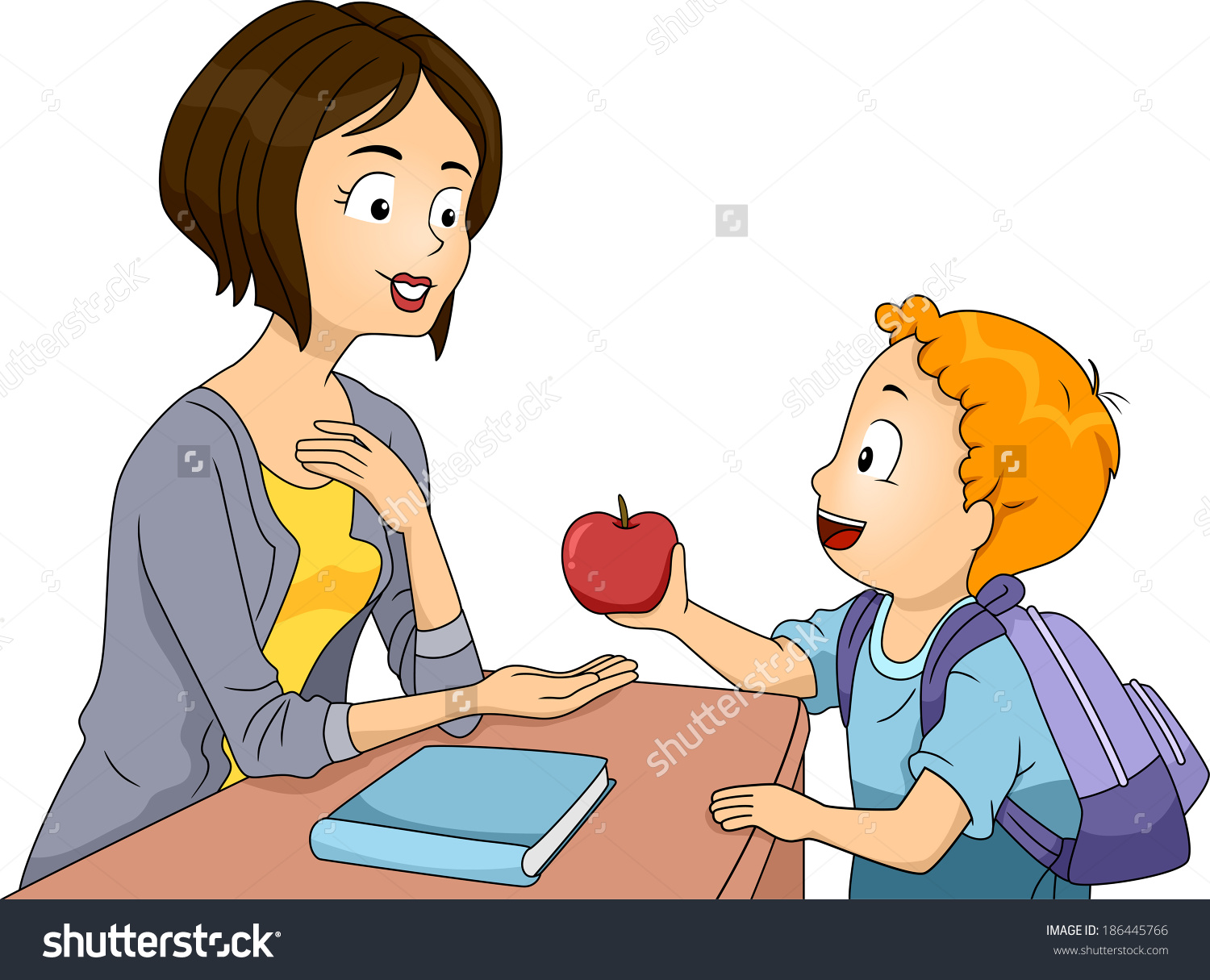 Showing post & media for Cartoon boy talking with teacher.